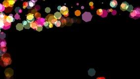 Ζωηρόχρωμα hexagons bokeh, αφηρημένη ζωτικότητα διανυσματική απεικόνιση