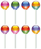ζωηρόχρωμα lollipops Στοκ Εικόνα