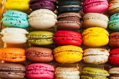ζωηρόχρωμα macarons Στοκ φωτογραφία με δικαίωμα ελεύθερης χρήσης