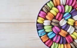 Ζωηρόχρωμα macarons 19 Στοκ Φωτογραφίες