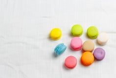 ζωηρόχρωμα macarons Στοκ Φωτογραφίες