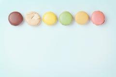 ζωηρόχρωμα macaroons Γλυκά macarons Στοκ φωτογραφία με δικαίωμα ελεύθερης χρήσης