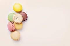 ζωηρόχρωμα macaroons Στοκ Εικόνα