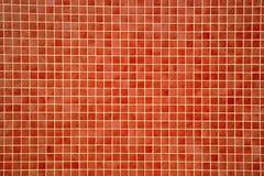 Ζωηρόχρωμα orangey-κόκκινα κεραμίδια μωσαϊκών Στοκ εικόνες με δικαίωμα ελεύθερης χρήσης