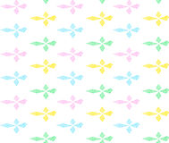 Ζωηρόχρωμα rhombs στη σειρά με το τρέκλισμα Στοκ εικόνα με δικαίωμα ελεύθερης χρήσης