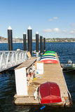 ζωηρόχρωμα rowboats Στοκ Εικόνα