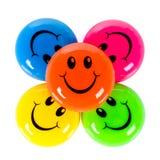Ζωηρόχρωμα smileys Στοκ εικόνα με δικαίωμα ελεύθερης χρήσης