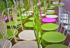 Ζωηρόχρωμες έδρες Στοκ Φωτογραφίες