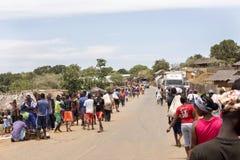 Ζωηρόχρωμες αγορές στο κύριο δρόμο, κοντά σε Antsohihy, Μαδαγασκάρη Στοκ φωτογραφίες με δικαίωμα ελεύθερης χρήσης