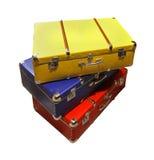 Αναδρομικές βαλίτσες Στοκ Εικόνες