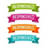 Ζωηρόχρωμες απαντητικές κορδέλλες Eps10 διάνυσμα ελεύθερη απεικόνιση δικαιώματος