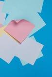 ζωηρόχρωμες αυτοκόλλητες ετικέττες εγγράφου Στοκ εικόνα με δικαίωμα ελεύθερης χρήσης