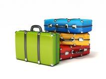 Ζωηρόχρωμες βαλίτσες απεικόνιση αποθεμάτων