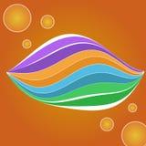 ζωηρόχρωμες γραμμές καμπ&upsilon στοκ φωτογραφία με δικαίωμα ελεύθερης χρήσης