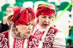 Ζωηρόχρωμες γυναίκες στα κοστούμια Gomel, Λευκορωσία Στοκ φωτογραφίες με δικαίωμα ελεύθερης χρήσης