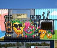 Ζωηρόχρωμες εικόνες γκράφιτι στην Ταϊβάν Στοκ φωτογραφίες με δικαίωμα ελεύθερης χρήσης