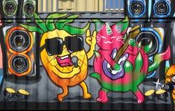 Ζωηρόχρωμες εικόνες γκράφιτι στην Ταϊβάν Στοκ Εικόνες