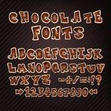 Ζωηρόχρωμες επιστολές σοκολάτας doodle ABC Στοκ Φωτογραφία