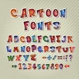 Ζωηρόχρωμες επιστολές doodle ABC συρμένο αλφάβητο χέρι Στοκ Φωτογραφία