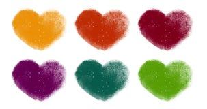 Ζωηρόχρωμες ζωντανεψοντες καρδιές Loopable καθορισμένες φιλμ μικρού μήκους