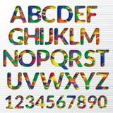 Ζωηρόχρωμες δημιουργικές επιστολές αλφάβητου Στοκ φωτογραφίες με δικαίωμα ελεύθερης χρήσης