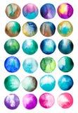 Ζωηρόχρωμες θαμπάδες υποβάθρου Aquacolor, λεκές διανυσματική απεικόνιση