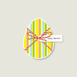 ζωηρόχρωμες διακοπές χαιρετισμού αυγών Πάσχας καρτών ανασκόπησης Στοκ Εικόνα