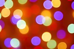 Ζωηρόχρωμες διακοπές bokeh αφηρημένα Χριστούγεννα ανασκόπησης Στοκ Εικόνες