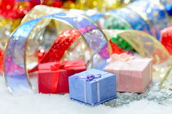 Ζωηρόχρωμες διακοσμήσεις Χριστουγέννων Στοκ φωτογραφία με δικαίωμα ελεύθερης χρήσης
