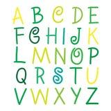 Ζωηρόχρωμες διανυσματικές επιστολές αλφάβητου στο άσπρο illustra Στοκ Φωτογραφία