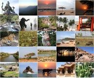 ζωηρόχρωμες ινδικές σκόν&epsilon Στοκ Φωτογραφίες
