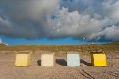 ζωηρόχρωμες καλύβες παρ&alp Στοκ Φωτογραφία