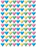ζωηρόχρωμες καρδιές ανασκόπησης Στοκ Εικόνες