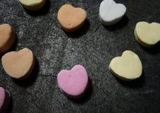 Ζωηρόχρωμες καρδιές καραμελών στοκ εικόνα με δικαίωμα ελεύθερης χρήσης