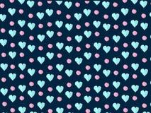 Ζωηρόχρωμες καρδιές διανυσματική απεικόνιση