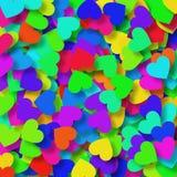 ζωηρόχρωμες καρδιές Στοκ Εικόνες