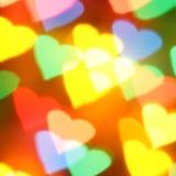 ζωηρόχρωμες καρδιές Στοκ εικόνα με δικαίωμα ελεύθερης χρήσης