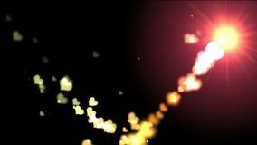 Ζωηρόχρωμες καρδιές bokeh, βίντεο HD ελεύθερη απεικόνιση δικαιώματος
