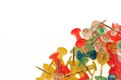 Ζωηρόχρωμες καρφίτσες ώθησης Στοκ Φωτογραφίες