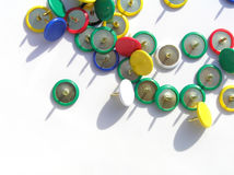 ζωηρόχρωμες καρφίτσες Στοκ Φωτογραφίες
