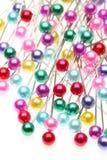 ζωηρόχρωμες καρφίτσες Στοκ Εικόνες