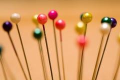 ζωηρόχρωμες καρφίτσες Στοκ Εικόνα