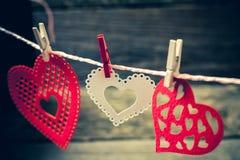 ζωηρόχρωμες καρδιές Στοκ φωτογραφίες με δικαίωμα ελεύθερης χρήσης