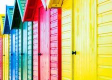 ζωηρόχρωμες καλύβες παρ&alp Στοκ Εικόνα