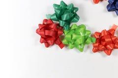 Ζωηρόχρωμες κορδέλλες συσκευασίας δώρων Στοκ φωτογραφία με δικαίωμα ελεύθερης χρήσης