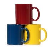 Ζωηρόχρωμες κούπες για τον καφέ ή το τσάι Στοκ εικόνα με δικαίωμα ελεύθερης χρήσης