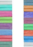 Ζωηρόχρωμες κρητιδογραφίες κιμωλίας που απομονώνονται στο λευκό Στοκ Εικόνα