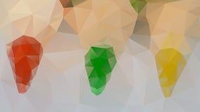 Ζωηρόχρωμες κρητιδογραφίες τριγώνων Στοκ Εικόνα