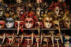 ζωηρόχρωμες μάσκες Βενε&t στοκ φωτογραφίες