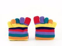 Ζωηρόχρωμες μακριές κάλτσες Στοκ Εικόνες